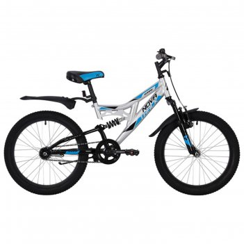 Велосипед 20 novatrack shark, 2020,цвет серебристый
