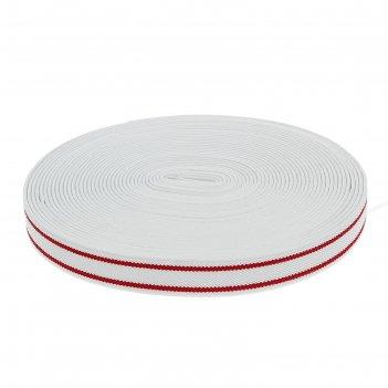 Резинка, ширина 20мм, 10м, цвет бело-красный