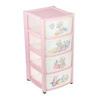 Комод детский на колесах с аппликацией me to you 4 ящика (розовый) 4313020