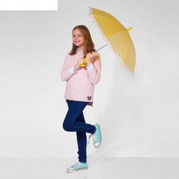 Зонт детский полуавтоматический горох, с рюшами, r=38см, цвет жёлтый