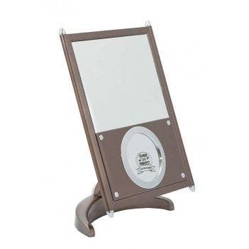 Зеркало psm 0021 brz/c bronze наст. квадр.17х22 см (3/12)