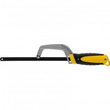 Ножовка-ручка по металлу stayer 15715, 300 мм, 24 tpi, металлическое основ