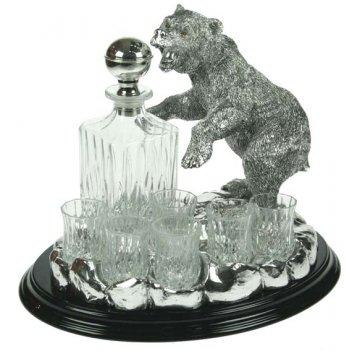 Подарочный набор для крепких напитков медведь на 6 персон 28