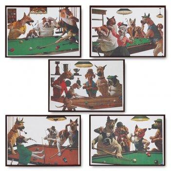 Набор зеркальных панно dogs 49x35см 5шт.