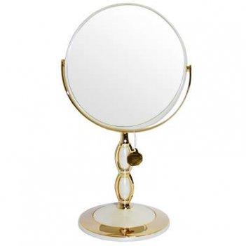 Зеркало b7 8066 per/g wpearl&gold наст. кругл. 2-стор. 5-кр.