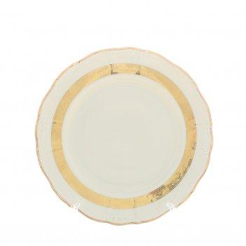 Набор тарелок thun мария луиза золотая лента ivory 27 см(6 шт)