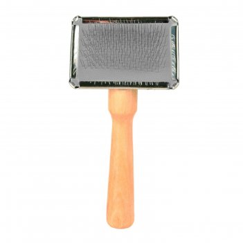 Щётка-пуходерка мягкая trixie с деревянной ручкой + расчёска