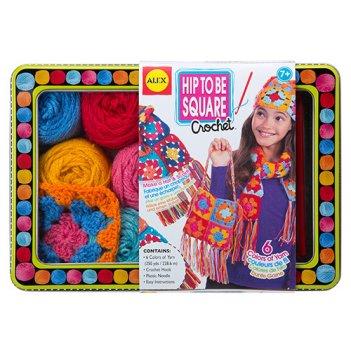 """Набор для вязания крючком """"модные вещи из вязаных квадратиков"""""""