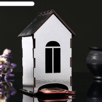 Чайный домик серебряный, 9,8x9,8x17,4 см