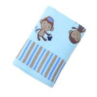 Полотенце махровое купу-купу обезьянки, размер 45х90 см, цвет голубой, хло