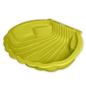 Песочница ракушка желтая 1249