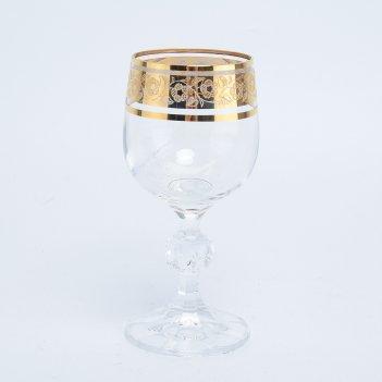 Набор рюмок для водки crystalex bohemia клаудиа золото v-d 90 мл(6 шт)
