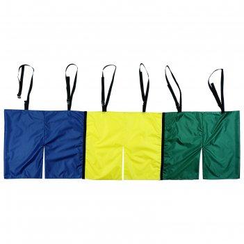 Шорты эстафетные для взрослых тройные с лямками