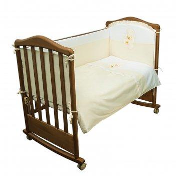 Детское постельное бельё пушистик 100х140, 110х140, 60х40, цв салатовый, с