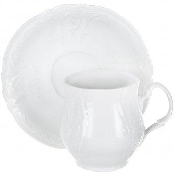 Чашка для чая 310 мл с блюдцем 160 мм bernadotte,  недекорированная
