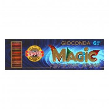 Грифели для цангового карандаша k-i-n 4376/06 мagic, 5,6 мм, многоцветные