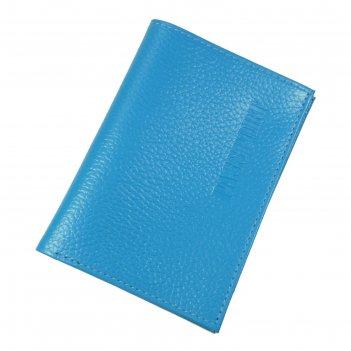 Обложка для паспорта, отдел для купюр, цвет голубой