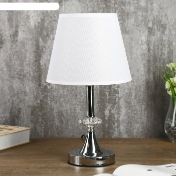 Лампа настольная алора 1х40вт е27 хром 21х21х36 см.