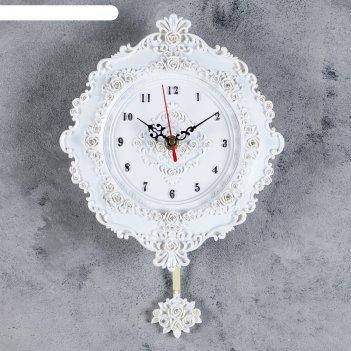 Часы настенные, серия: маятник, глория, 21х24.5 см