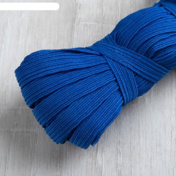 Резинка эластичная, 10 мм, 10 ± 1 м, цвет синий
