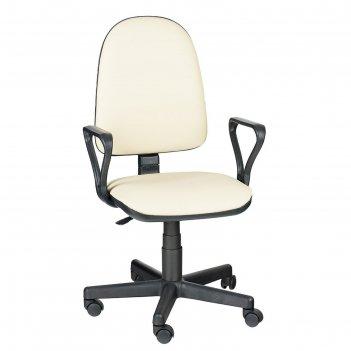 Кресло оператора престиж  самба, бежевый, искусственная кожа