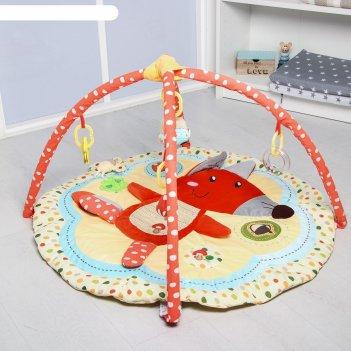 Развивающий игровой коврик «лисичка и ее друзья», с дугами