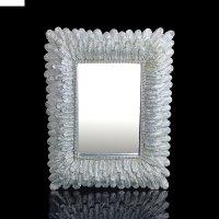 Зеркало интерьерное серебряные пёрышки