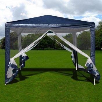 Садовый тент шатер с москитной сеткой 3x3x2.4m.