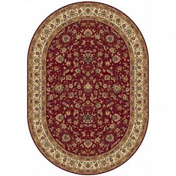 Овальный ковёр buhara 5471, 160 х 300 см, цвет red