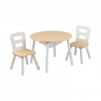 Набор мебели  сокровищница, бежевый (round storage table & chair set) стол