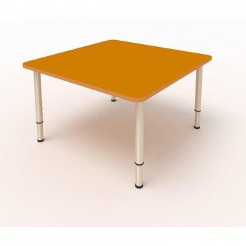 Стол детский регулируемый, 4-х местный, 700 x 700 x 400 мм, группа 0-3, цв