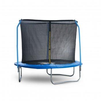 Батут start line fitness 8 футов (244 см) с внешней сеткой и держателями с