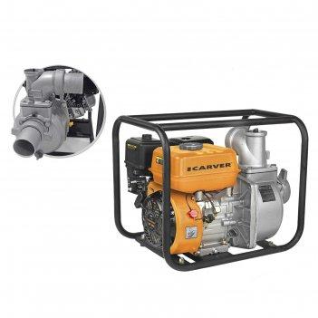 Мотопомпа carver cgp 6080, 4т, 5.2 квт/7 л.с., 210 см3, 1000 л/мин, глубин