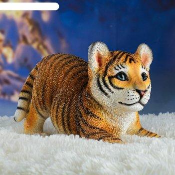 Садовая фигура тигренок игривый 31х14х18см