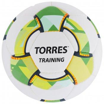 Мяч футбольный torres training, размер 4, 32 панели, pu, 4 подкладочных сл