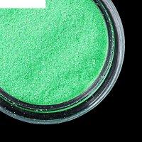 Втирка для ногтей зеркальный блеск, мелкая, цвет зелёный неон