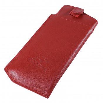 Футляр для очков на липучке, цвет красный