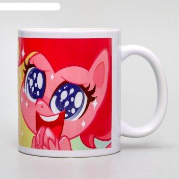 Кружка сублимация пинки пай, my little pony, 350 мл