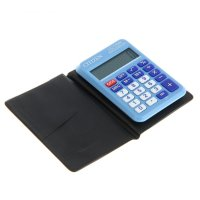 Калькулятор карманный 8разр, 58*87*12мм, пит.от батарейки, синий lc-110nbl