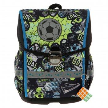 Ранец на замке luris «гуффи», 38 х 28 х 18 см, + мешок для обуви, «футбол»