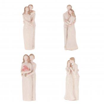 Фигурка декоративная влюбленная пара,  l5,5 w4,5 h13,5 см, 4в.