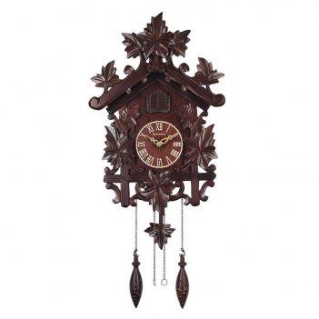 Настенные часы с кукушкой columbus кленовый лист cq-044