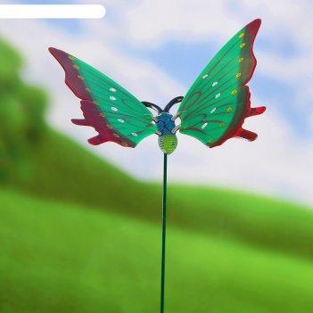 Декор садовый «бабочка пестрянка», штекер 60 см, цвета микс