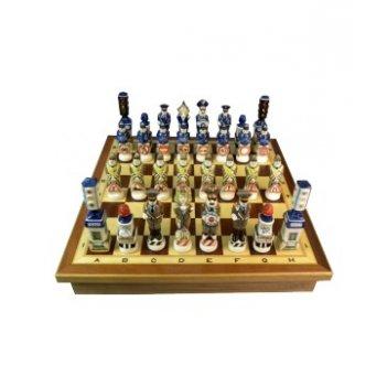 Шахматы гибдд малые, надглазурная роспись