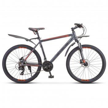 Велосипед 26 stels navigator-620 d, v010, цвет антрацитовый, размер 17