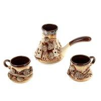 Набор кофейный замки 3 предмета (турка + 2 чашки)