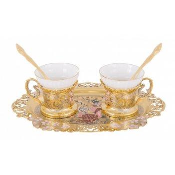 """Набор чайный """"япония"""" (тарель, 2 чашки)"""