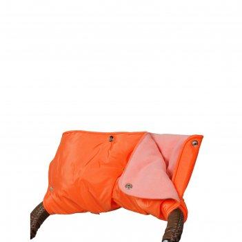 Муфта для рук на коляску флисовая (кнопки), цвеь оранжевый мкф02-000