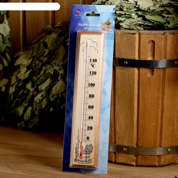 Термометр для бани и сауны деревянный, до 150°c, 30x6 см