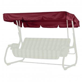 Тент-крыша для садовых качелей родео бордовый